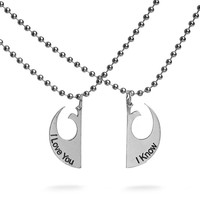 Star Wars I Love You / I know Necklace