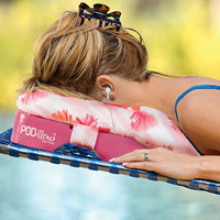 Sun Tanning Pillow, Cushioning Headrest with Face Cut Out | Solutions