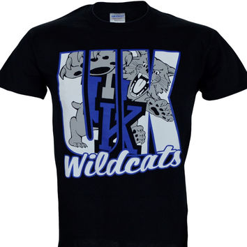 University of Kentucky UK ANDROMENA on BLACK Shirt