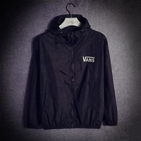 VANS Winter Fashion Hooded Cardigan Jacket Coat