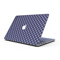 Micro Coral Flowers Over Navy - MacBook Pro with Retina Display Full-Coverage Skin Kit