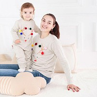 Mommy and me clothes family matching outfits baby long sleeve romper matching mother sweater family look clothing