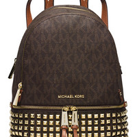 MICHAEL Michael Kors Rhea Zip Small Studded Backpack | macys.com