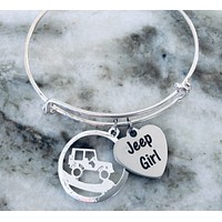 Jeep Girl Bracelet Adjustable Expandable Bracelet One Size Fits All Jeep Jewelry