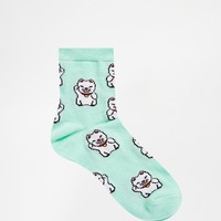 ASOS Ankle Socks With Lucky Cat