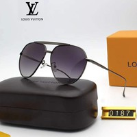 LV Louis Vuitton Fashion Women Men Casual Shades Eyeglasses Glasses Sunglasses