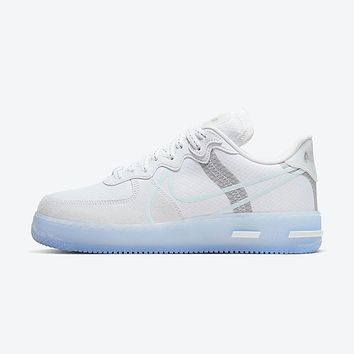 NIKE AIR FORCE 1 REACT QS 'WHITE ICE' Simple and versatile sports shoes