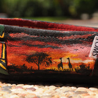 Custom Hand Painted Shoes : Moderate - High Difficulty Level