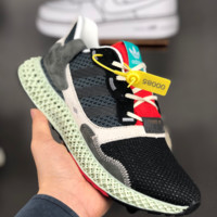 HCXX A1382 Adidas ZX 4000Futurecraft 4D Hollow Braethable Fashion Sports Running Shoes Black Gray Red