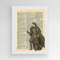 Instant download, Jon Snow Poster, Game of Thrones, You Know Nothing Jon Snow, Jon Snow Print, Jon Snow Wall Art, Jon Snow Gift