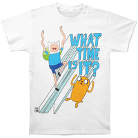 Adventure Time Men's  What Time Is It T-shirt White
