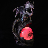 LED Watchful Mother Fantasy Dragon Collectable Figurine