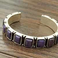 Navajo Blessed Natural Stone Cuff Bracelet