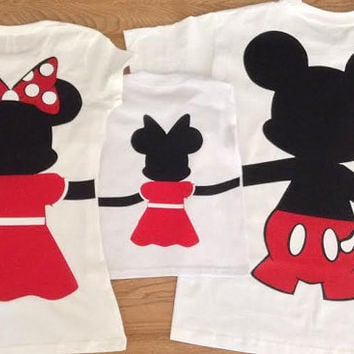 Free/Fast Shipping for US Full Body Mickey and Minnie Mouse Family of 3 set.