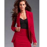 Professional Business Women Suits Custom made Red Autumn Winter Slim Fashion OL work office suits