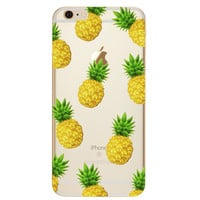 Fruit Pineapple TPU Soft Silicon Transparent Clear Back Case Cover for Apple iPhone 4 4s 5 5s 5c SE 6 6s 6 Plus 6s Plus 7 & 7 Plus