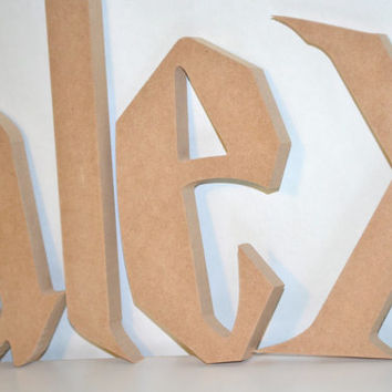 6 to 14 inch Letters Wood Cut Out Unfinished Wooden Letters Harry Potter Font Custom Wall Hanging Above Crib or Bed Movie Inspired Name