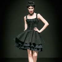 sexy simple long skinny gothic dresses with skull decoration