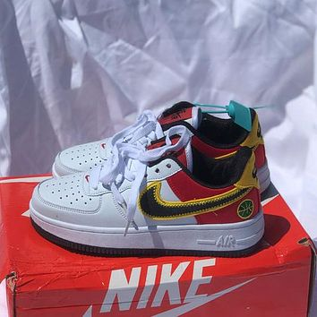Nike Air Force 1 AF1 Low help colorblock low help men's and women's sneakers Shoes