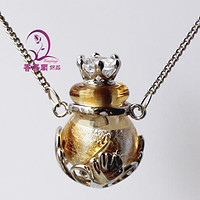 Murano Glass Perfume Ball Necklace - For Your Favorite Fragrance
