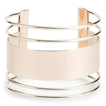 Women's Topshop Cutout Cuff - Rose Gold