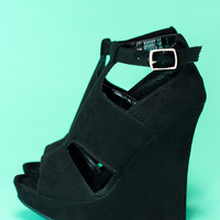 About a Girl Wedge - Black
