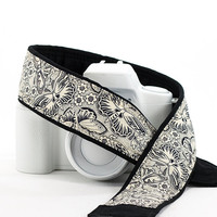 dSLR Camera Strap, Butterflies, Replacement Camera Strap, Pocket, SLR, Butterfly, Mirrorless, Quick Release, Camera Neck Strap, 15 w