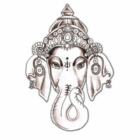Hindu Elephant Nail Decal by PineGalaxy on Etsy