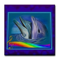 Dolphin Song Tile Coaster> Custom Tile Coasters> Only Originals