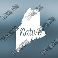 Maine Home State Svg Dxf Pdf Jpg Cut File | Maine pdf File | Love JPG Sticker | Svg Dxf Jpg Jpeg  PDF | Digital Download | 530