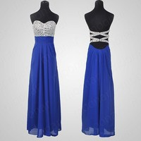 Strapless Formal Prom Gowns Evening Party Ball Cocktail Long Dress Stock 6 Size