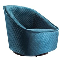 Pug Swivel Chair Aquamarine Metal