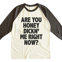 Are You Honey Dicking Me Right Now Shirt Funny Hipster Shirt Gift Shirt Unisex Tee Men Tee Women Tee Raglan Tee Shirt Baseball Tee Shirt