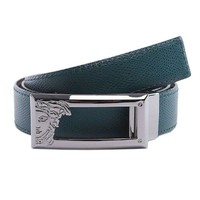DCCK8X2 Versace Collection Men's Adjustable and Reversible Leather Belt