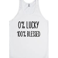 0% LUCKY 100% BLESSED | Tank Top | SKREENED