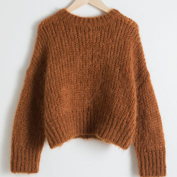 Wool Blend Chunky Knit Sweater - Camel - Sweaters - & Other Stories GB