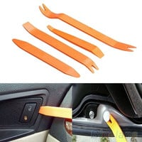 4pcs Auto Car Radio Door Clip Panel Trim Dash Audio Removal Installer Pry Tool (Size: One Size, Color: Orange) = 1651538756