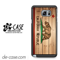 California Republic State Flag Wood Design For Samsung Galaxy Note 5 Case Phone Case Gift Present