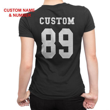 Name and Number T-shirt, Custom T-shirt, Basketball TShirt, Football TShirt, T-Shirt, name number tshirt