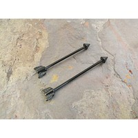 Black Arrow Industrial Barbell Piercing Upper Double Ear Piercing