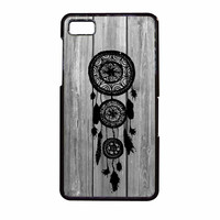 Hipster Vintage Black Dreamcatcher On Gray Wood BlackBerry Z10 Case