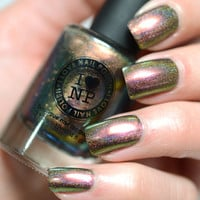 Nostalgia (H) - Holographic Multichrome Nail Polish - Golds, Greens, and Reds
