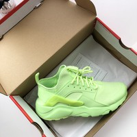 Nike Air Huarache Ultra Suede Green Running Shoes - Best Online Sale