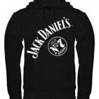 Jack Daniel's No 7 Mens Pullover Hooded Sweatshirt, Medium