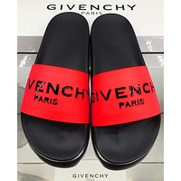 Wearwinds Givenchy Trending Classic Slippers Women Men Letters Sandals Red