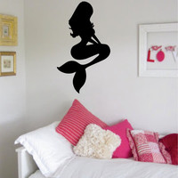 Mermaid Version 1 Ocean Beach Design Decal Sticker Wall Vinyl Decor Art