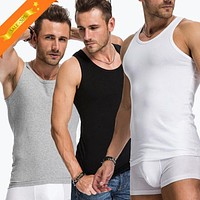 Casual Tank Tops Undershirts Mens Soft Stretchable Bodybuilding Seamless Underwear Vest