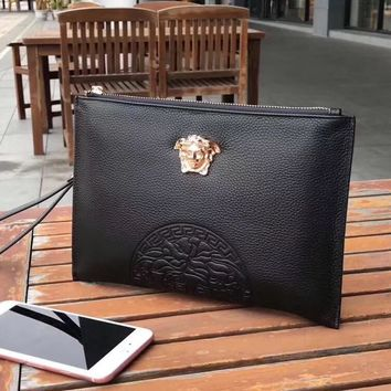 VERSACE MEN'S NEW STYLE LEATHER HAND BAG