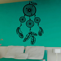 Wall Decals Dream Catcher Amulet Indian Pattern Mandala Feathers Stickers Yoga Gym Vinyl Decal Sticker Home Bedroom Interior Decor kk717