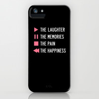 Play The Laughter, Pause The Memories iPhone & iPod Case by LookHUMAN